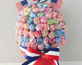 Patriotic Lollipop Tree