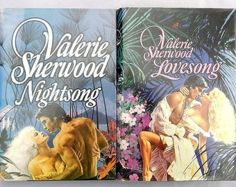 Valerie Sherwood Nightsong and Lovesong Two Vintage Hardcover Romance Novels