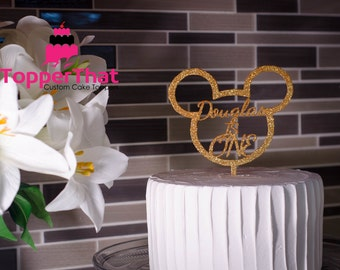 Personalized Mickey Mouse Cake Topper