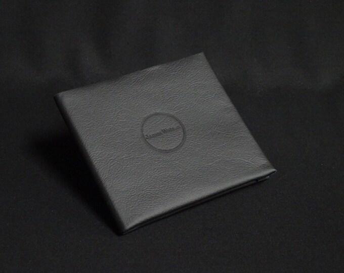 10-Pocket Wallet - Matte Black - Kangaroo leather with RFID credit card blocking - Handmade - James Watson