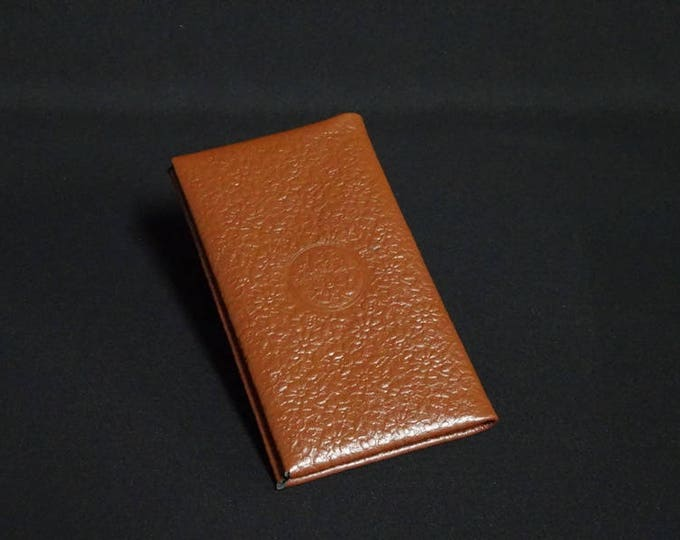 Smartfold-6 Phone Wallet - Brown Flower Texture - Fits Apple iPhone 4 5 5S 6 6S 7 - Kangaroo leather with RFID Credit Card Blocking