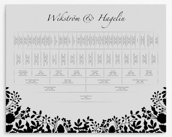 Family Tree Prints, Personalized Family Trees, Anniversary Gifts, Family Trees Chart, 6 Generations, Wedding Presents