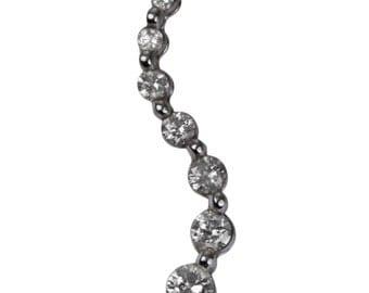 Diamond Necklace Diamond Pendant Diamond Journey Pendant White Gold