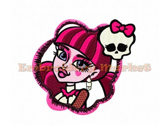 monster high Design for Embroidery Machines 4 sizes - Instant Download