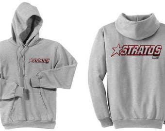 Stratos Boats Ash Grey Hoodie Sweatshirt