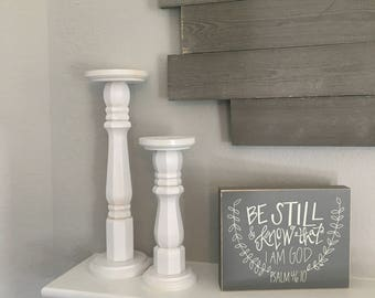 Rustic Chic Candlestick