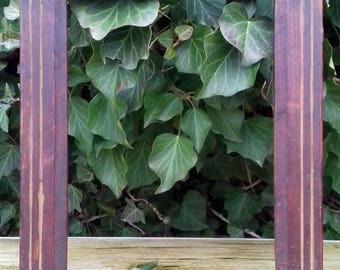 Antique Primitive OLD Wooden Wood Photo, Picture Frame