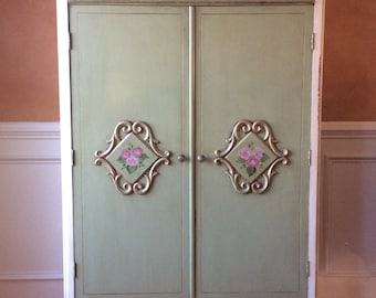 Vintage Hand Painted Armoire