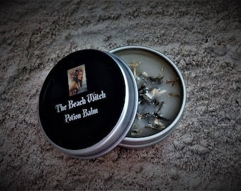 SACRED SHIELD Ritual Balm, Potion Balm, Ointment, Anointing Balm, Spell Oil, Wicca, Witchcraft, Pagan, Occult ~ The Beach Witch ~ 1/2 oz