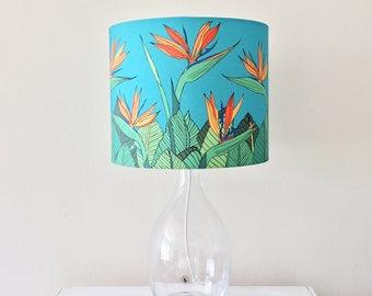 Tropical Bird of Paradise Flower Handmade Stand Lampshade