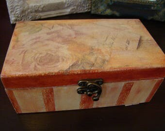 Wooden Trinket Box/Decoupage Box for Jewels and Gifts