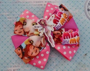 Mia and me birthday gift for best friend Mia and me hair bows Gift for kids Best friend gift ideas Friend ship hair clip Baby headband bows