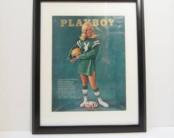 Vintage Playboy Magazine Cover Matted Framed : September 1967 - Bo Bussmann