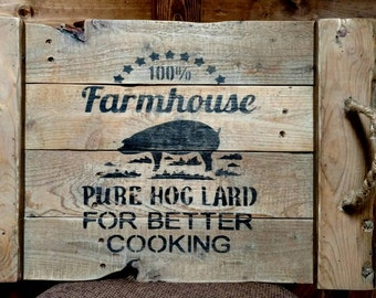 Reclaimed wood farmhouse serving tray
