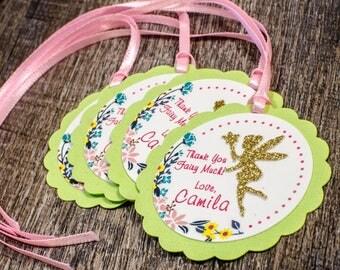 Custom Fairy Favor tags, fairies, tinkerbell inspired favor tags