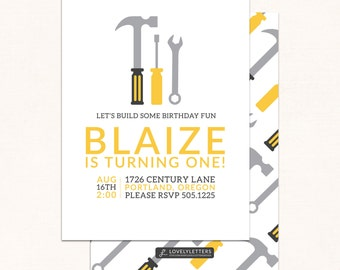 Tools Birthday Invitation / Under Construction Birthday / Tools Invitation / Construction Invitation / Builder Birthday Invite