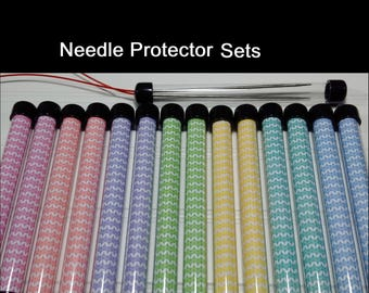 Needle Keeper Tube, Needle Protector, Knitting, Crochet, Notions Tube, Set of 2