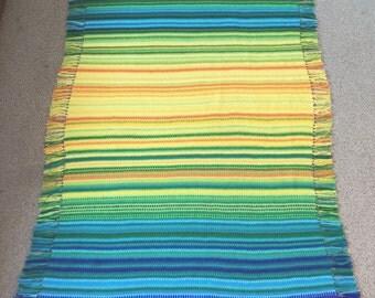 Rainbow Temperature Blanket by Olivesandpickles