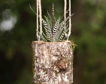 Rustic Hanging Flower Pots