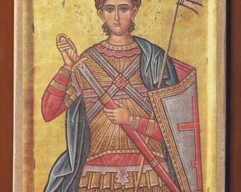 Saint Dimitrios The MYROVLITIS.Christian orthodox icon. FREE SHIPPING.