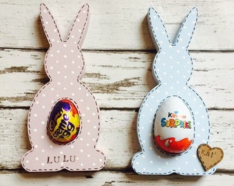 Easter gift etsy wooden egg holders easter egg holders easter bunny cream egg holder negle Images