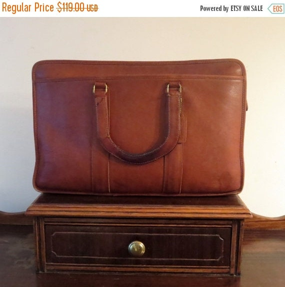 Football Days Sale Coach Embassy Briefcase In British Tan Leather Made In The Factory In NYC Style No 5090