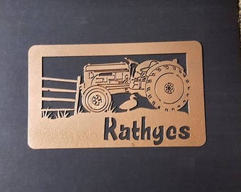 Tractor name sign