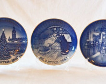 Vintage Bing & Grondahl Centennial Collection Christmas Plates Complete Set Of 5 Plates