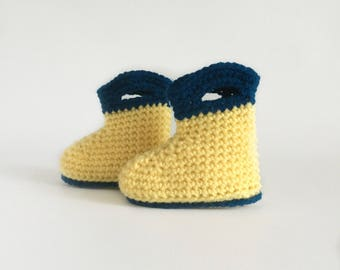 Crochet Baby Boots, Baby Boots, Baby Slippers, Baby Rain Booties, Crochet Rain Boots, Crochet Booties, Toddler Booties, Baby Shower Gift
