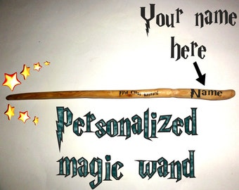 First Class Wizard Magic Wand Personalised. Custom magic wand. Name personalized magic wand. Harry Potter wand. Hermione Fairy wizard wand.