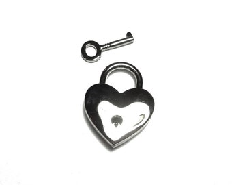 Heart shaped padlock silver KR-06N035
