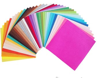 40X Different Assorted Colours Felt Fabric Nonwoven Sheet Patchwork 30*30cm Quilting Scrapbooking Artcraft(CTJZ21-NWV-303040)