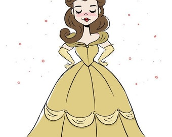 Princess Belle Illustration