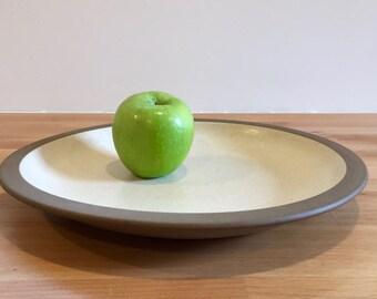 Vintage Heath Ceramics Sandalwood Rim Line Dinner Plate | Mid Century Modern Studio Pottery | Edith Heath Sausalito