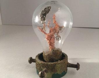 Copper tree lightbulb