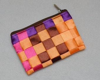 Small Zipper Pouch Small Pouch Small Cosmetic Pouch Cosmetic bag Zip pouch Gift For women Gift for her Travel Tote Rainbow bag Fabric Bag