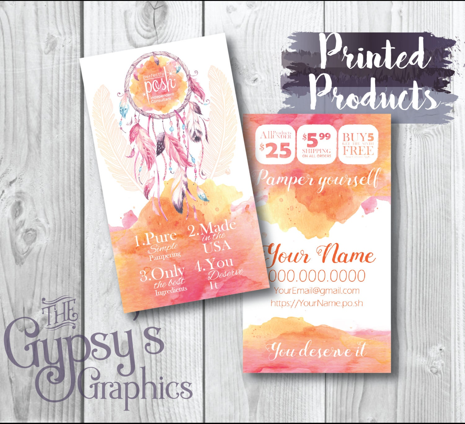 Perfectly Posh Business Cards Sunset DreamBusiness