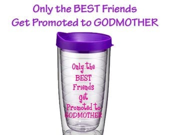 Godmother Gift - Will You Be My Godmother - Godmother Coffee Cup - Pregnancy Announcement - Baptism - Best Friends Promoted to Godmother Cup