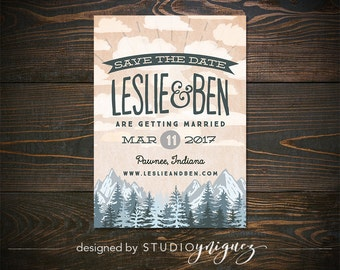 Camp save the date | Etsy