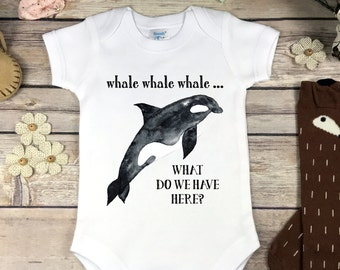 Whale  Onesie® or Infant Tee Shirt Baby Boy Clothes Beach Baby Onsie Baby Shower Gift Nautical Baby Onesie // Whale What Do We Have Here?