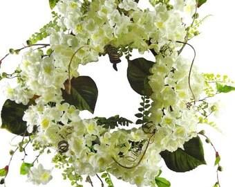 "24"" Cream Hydrangea Wreath"