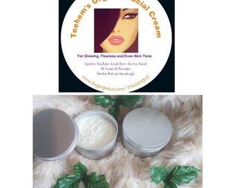 Teehem's Organic Facial Cream.