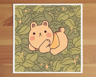 Friendly Bear Mini Print