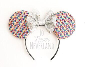 Epcot Ears, Spaceship Earth Mickey Ears, Disneyworld Minnie Ears, Spaceship Earth Ears, Epcot Mickey Ears, Colorful Spaceship Earth Ears