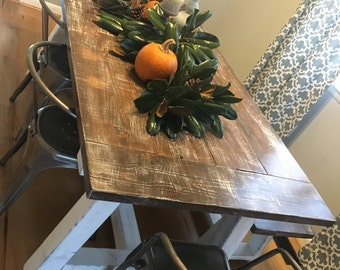 Farmhouse Dining Table W/ Truss Beam Legs