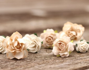 Wedding Flower Hair Pins Champagne Wedding Flower Hair Bobby Pins Ivory Wedding Hair Vine Accessories Champagne Flower Hair Pieces