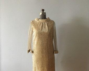 1960s Mesh Disco Dancer Dress
