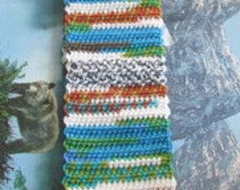 Hand crochet scarf SCAR 010