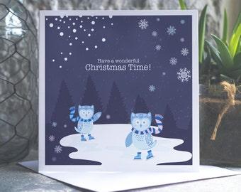 Owl Christmas Card Pack, 3 pack of bespoke christmas owl cards, woodland card christmas pack