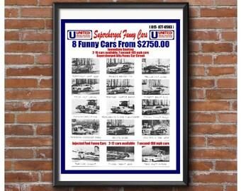 UDRA Funny Car Circuit 1972 Poster